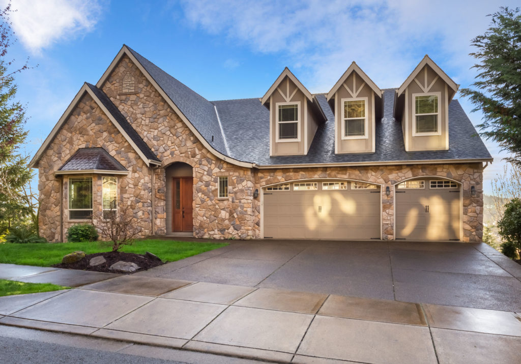 72927120 - beautiful, newly built luxury home exterior